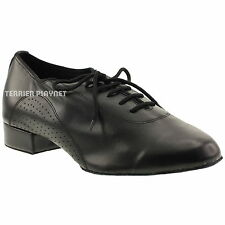 TPS Men's High Quality Black Leather Latin Ballroom Dance Shoes All Sizes M26