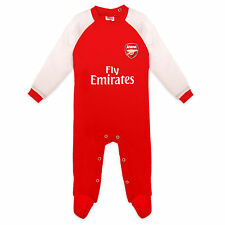 Arsenal Football Club Official Soccer Gift Home Kit Baby Sleepsuit Red