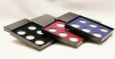 Black Coin Display Box for 6 coins; Penny, Dime, Nickel, Quarter, SBA Direct Fit