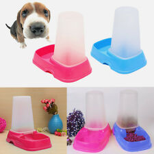 Automatic Pet Bowl Cat Dog Rabbit Food Water Feeder Dispenser Easy Clean Travel