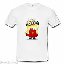 ARSENAL MINIONS Movie Despicable Me Football Funny Cool T-Shirt UNISEX Brand New