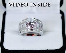 3.8 Ct Solitaire Created Diamond Engagement Wedding Ring in Real 925 Silver