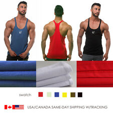 Mens Stringer Bodybuilding Tank Top Solid Gym Singlet Y-Back Muscle Racer-back
