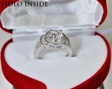 1.5CT Round Cut Engagement & Wedding Engagement Rings Silver
