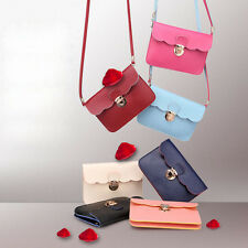 Women Fashion Shoulder Bag PU Leather Cluth Handbags Mini Change Purse Wallet