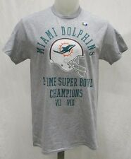 Miami Dolphins Men's Short Sleeve Super Bowl Champ T-Shirt    Gray