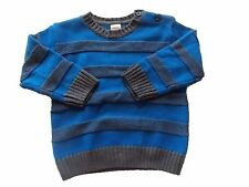 NWT Boy's Gymboree King Cool blue gray striped sweater 12 18 24 months 3T 4T 5T