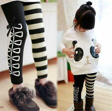 Fashion Kids Girls Panda Batwing Sleeve Tops +Striped Bowknot Leggings Ages 4-7Y