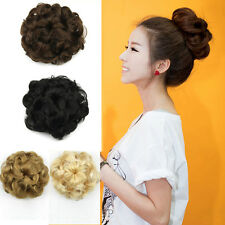 Drawstring Wavy Curly Buns Clip-in Hair Extensions Accessories Hairpiece Updo
