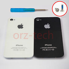 Replacement Back Cover Glass for iPhone 4 4S Black White Rear Housing Tools Kit