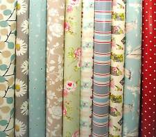 Clarke & Clarke PVC Fabric WIPE CLEAN Tablecloth Oilcloth Many Designs and Sizes