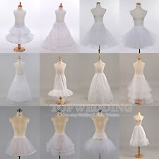 White Hoop Hoopless Petticoat Underskirt Mini Bridal Slips Crinoline Kids/Adults
