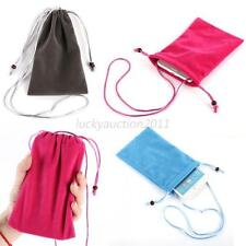 5 Inch Colorful Soft Velvet Cloth Bag Case Pouch for Phone MP5 MP4 Mobile L47