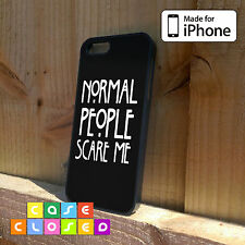 NORMAL PEOPLE SCARE ME BLACK - For iPhone Samsung HTC - Hard/Rubber Case Cover