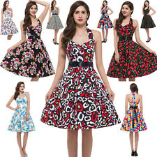 FLORAL Housewife Vintage Style 50's 60's Swing Party Pinup Rockabilly Dress Robe