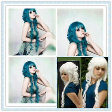 Fashion Lolita Long Curly Wavy Full Wig Hair sexy 2 Colors Cosplay Anime  wig