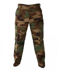 VINTAGE MILITARY ISSUE BDU PANTS WOODLAND CAMO USGI EXCELLENT HUNTING AIRSOFT...