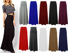 New Ladies Stretch Flare Viscose Gypsy Maxi Skirt Womens Long Plus Size 8-22