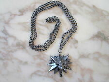 The Witcher 3 Wild Hunt Collector Edition Medallion Necklace Chain Wolf Head NEW