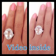 Beautiful Old Mine Cut 5.85CT Engagement Wedding Diamond Ring 22KT Made in Italy