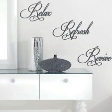 Relax Refresh Revive Wall Quote Art Stickers Wall Decals bn