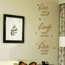 Live Love Laugh Wall Quote Stickers Wall Decals Words Lettering bn