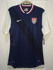 NEW Mens L NIKE US USA National Team Authentic Navy Blue S/S Soccer Jersey