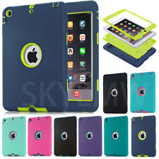 Summer Color Shockproof Heavy Duty Rubber Cover For Apple iPad Mini 1 2 3 Retina