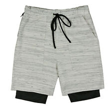 EPTM EPITOME CONTEMPOARY CLOTHING NAVAJO MARBLE 2 LAYER SHORTS $68 JOGGER