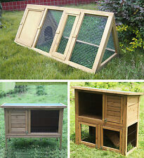 Rabbit Hutches and Runs Guinea Pig House Ferret Cages Wooden Garden Outdoor Home