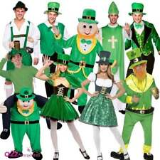 ADULT MENS LADIES ST PATRICKS DAY IRISH LEPRECHAUN GREEN FANCY DRESS COSTUME NEW