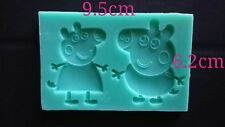 Peppa Pink Silicone Mould Mold Fimo Sugarcraft Cupcake Topper chocolate