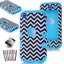 High Impact Hybrid Hard Soft Rubber Case Cover Skin For iPod Touch 4th 5th Gen