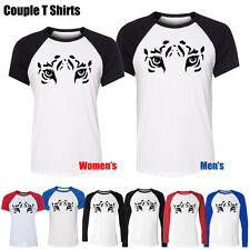 Hot Ultra-cool Tiger Eyes Retro Art Graphic Couple Boy's Girl's T Shirt Tee Tops