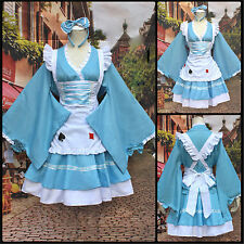 Lolita Cosplay Kostüm Maidservant Uniform Japan Kimono Kleid Girls Fancy Dress