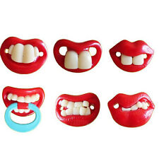 Funny Teeth Mustache Baby Kids Infant Pacifier Orthodontic Dummy Nipples