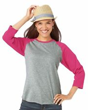 LAT - Ladies' Fine Jersey Three-Quarter Sleeve Baseball T-Shirt, 5 Colors - 3530