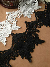 Lotus Floral Lace Trim Embroidery Hollow Out Lace Trim 3.93 Inches Wide 2 Yards