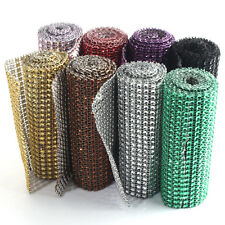 "1y / 91cm 4.6"" Wedding Diamond Mesh Wrap Roll Sparkle Rhinestone Crystal Ribbon"