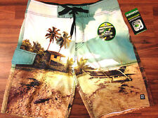 DISTORTION LOST IN PARADISE BOARD SHORTS JUST ADD WATER SPRING SUMMER HOT WEAR