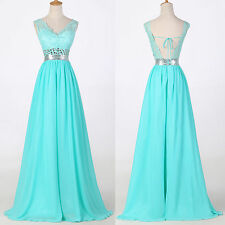 Stunning Long Bridesmaid Prom Dress Evening Homecoming Formal Party A-Line Dress