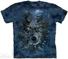 THE MOUNTAIN WOLF TREE ANIMAL NATURE MYSTICAL ROOTS ART DESIGN T TEE SHIRT S-5XL