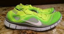 NEW Mens 11 NIKE Free Flyknit + Volt Lime Green Grey Whit Running Training Shoes