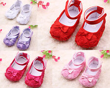Toddler Girl Infant Lace Flower Party Soft Prewalkers Baby Crib Shoes Gift Cack