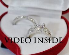 Luxe*2.85CT Princess Cut Engagement Ring Wedding Diamond Ring 22KT Made in italy