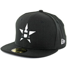 New Era Houston Astros Cooperstown BK WH Fitted Hat (Black/White) Men's 5950 Cap