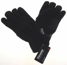 Athletech Mens Black Winter Driving Fleece Gloves 3M Thinsulate Lined Snow Warm