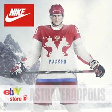 Authentic Nike Hockey Jersey Russian Team Olympic Games Sochi 2014 Size S M L
