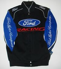 Authentic Ford Racing Embroidered Cotton Jacket JH Design Black New