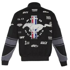 Authentic Mustang Racing Embroidered Cotton Jacket JH Design Black New